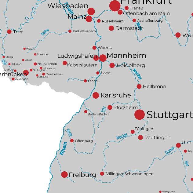 Karlsruhe Karte Umgebung.Regiocommerce Karlsruhe